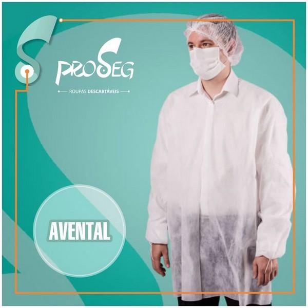 Avental cirurgico descartavel manga longa