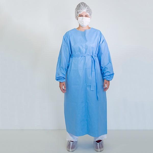 Avental descartavel azul