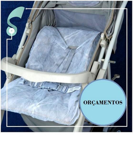 Capa para carrinho de bebe descartavel