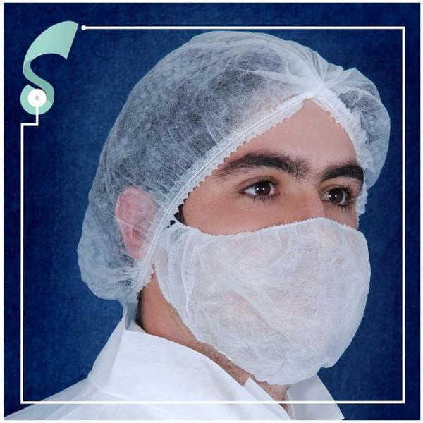 Protetor de barba e bigode descartável