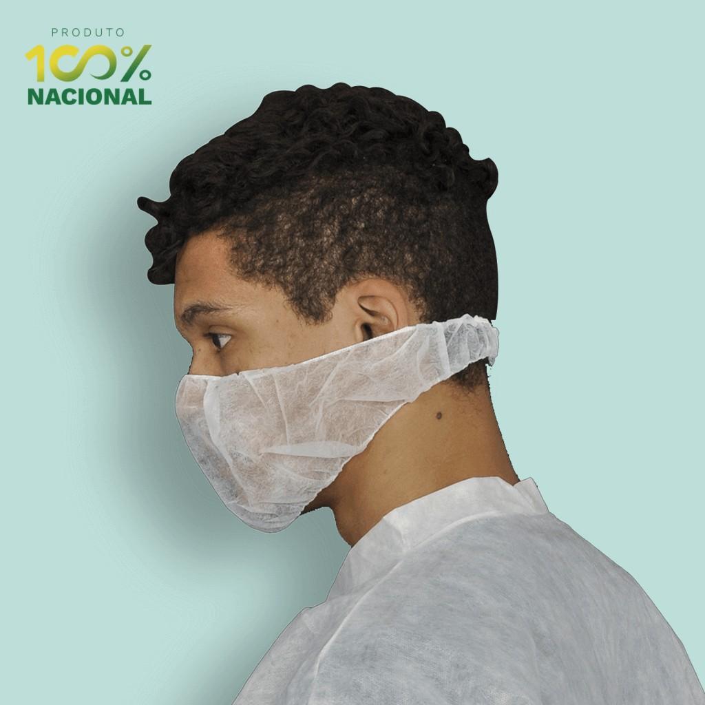 Protetor de barba em TNT descartável