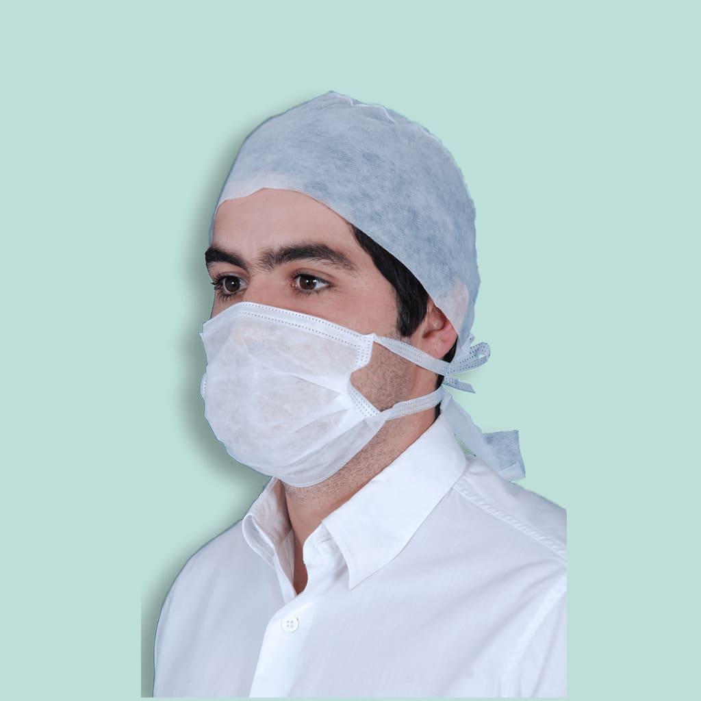 Máscara Cirúrgica Tripla Descartável em TNT